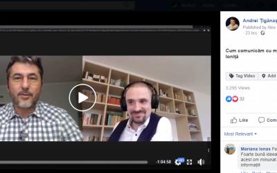 Cum comunicăm cu medicii în perioada COVID – interviu cu Lucian Ioniță